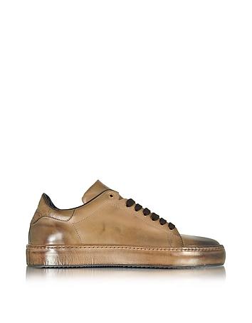 Cesare Paciotti Dune Aged Leather Men's Sneaker (bruin)