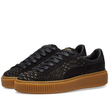 Puma Women's Platform Exotic Skin (Black)
