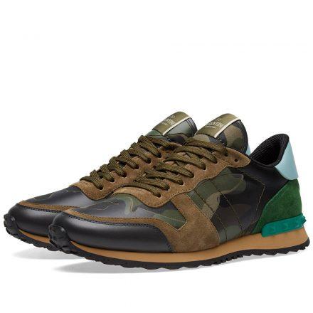 Valentino Rockrunner Sneaker (Green)