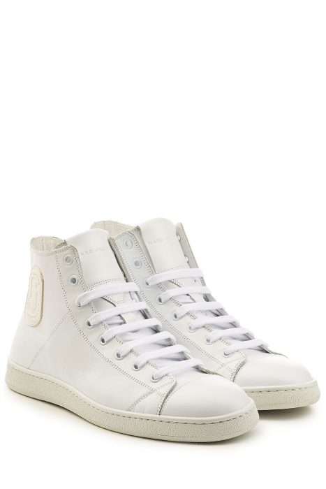 Marc Jacobs Marc Jacobs Leather High-Top Sneakers (wit)