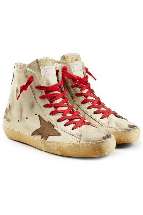 Golden Goose Deluxe Brand olden Goose Deluxe Brand Francy Leather High-Top Sneakers (wit)