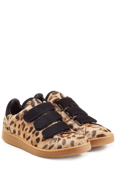 Jérôme Dreyfuss Pony Hair and Suede Sneakers#{lastAddedProduct.name} (print)