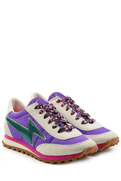 Marc Jacobs Marc Jacobs Nylon and Suede Sneakers (multicolor)