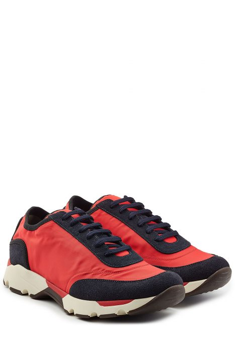 Marni Marni Sneakers with Fabric and Suede (rood)