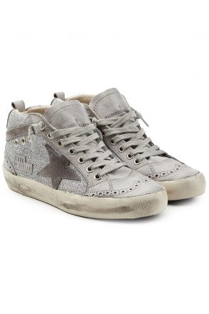 Golden Goose Deluxe Brand olden Goose Deluxe Brand Mid Star Leather and Suede Sneakers (grijs)
