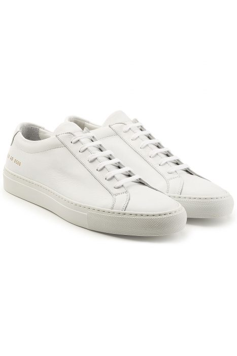 Common Projects Common Projects Leather Sneakers (wit)