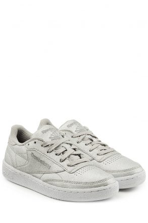 Reebok Reebok Club C 85 Diamond Sneakers in Metallic Leathe (zilver)