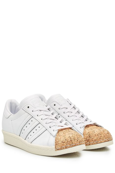 Adidas Originals Adidas Originals Superstar Leather and Cork Sneakers (wit)
