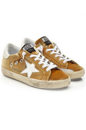 Golden Goose Deluxe Brand olden Goose Deluxe Brand Super Star Velvet Sneakers with Leathe (Overige kleuren)