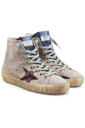 Golden Goose Deluxe Brand olden Goose Deluxe Brand Francy Sneakers with Cotton and Leathe (paars)