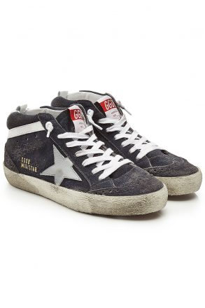 Golden Goose Deluxe Brand olden Goose Deluxe Brand Mid Star Suede and Leather Sneakers (grijs)