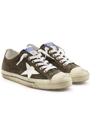 Golden Goose Deluxe Brand olden Goose Deluxe Brand V-Star 2 Suede Sneakers (groen)