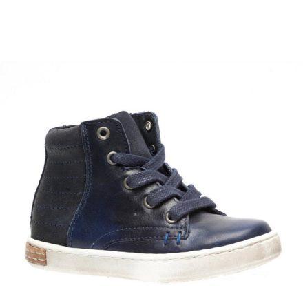 Groot leren sneakers jongens (blauw)