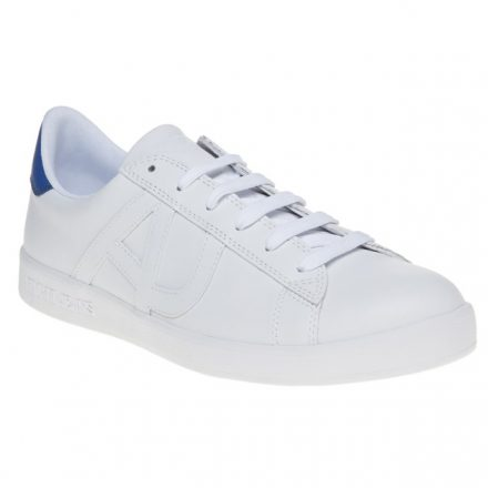 Armani Jeans Knit Runner Trainers (wit/blauw)