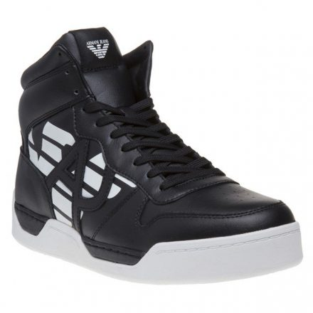 Armani Jeans High Top Trainers (zwart)