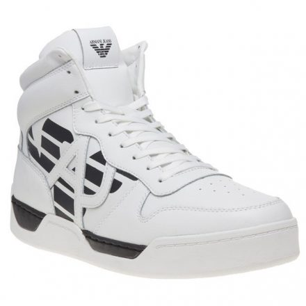 Armani Jeans High Top Trainers (wit)