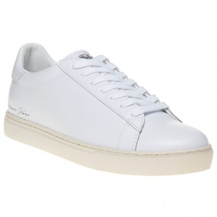 Armani Jeans Signature Low Top Trainers (wit)