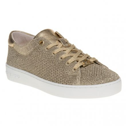 Michael Kors Skyler Lace Up Trainers (goud)