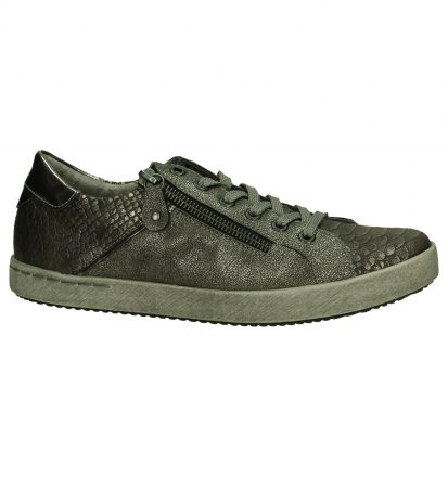 Taupe Lage Sneaker Rits/Veter Remonte