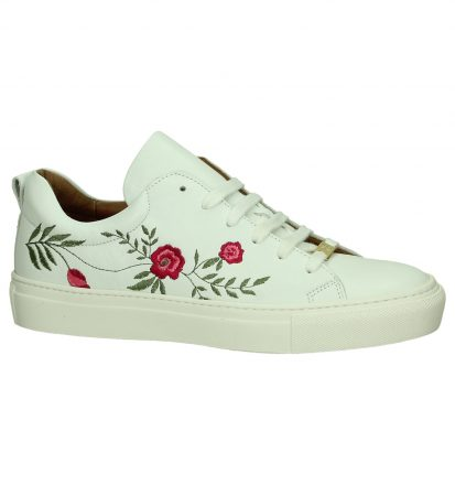 Witte Sneaker Hampton Bays by Torfs met Bloemen
