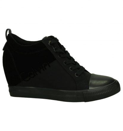 Zwarte Calvin Klein Robina Sneaker met Sleehak