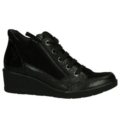 Tamaris Zwarte Sneakers met Sleehak