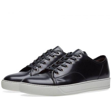 Lanvin Brushed Leather Low Sneaker (Black)