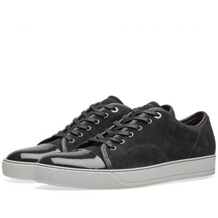 Lanvin Patent Toe Cap Sneaker (Grey)