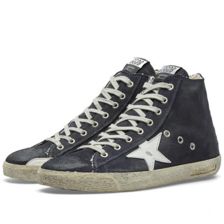 Golden Goose Deluxe Brand Frenchie Suede High Sneaker (Blue)