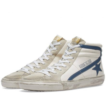 Golden Goose Deluxe Brand Slide Leather & Suede Sneaker (Blue)