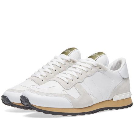 Valentino Rockrunner Sneaker (White)