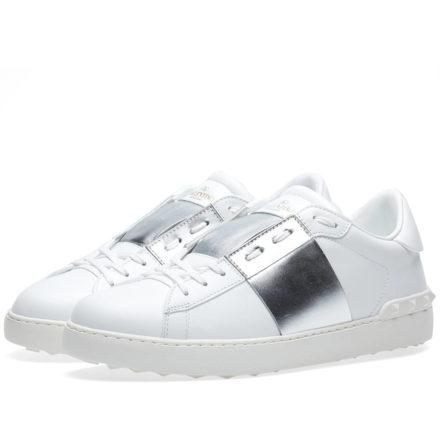 Valentino Open Low Top Sneaker (White)