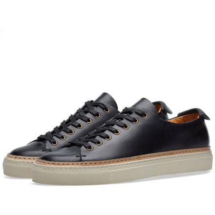 Buttero Tanino Low Leather Welt Sneaker (Black)
