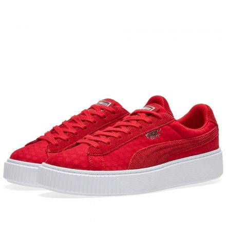 Puma Women's Basket Platform DE (Red)