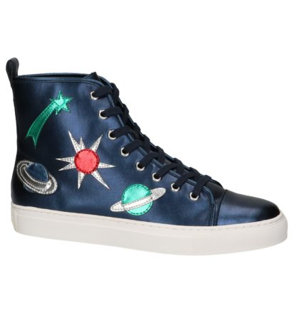 Blauwe Hoge Sneaker met Patches Katy Perry The Jupiter