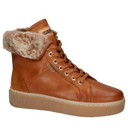 Hoge Sneaker Pikolinos Cognac