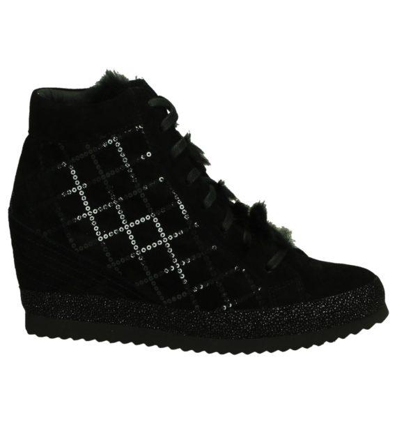 Zwarte Sneakers met Sleehak Olivier Strelli