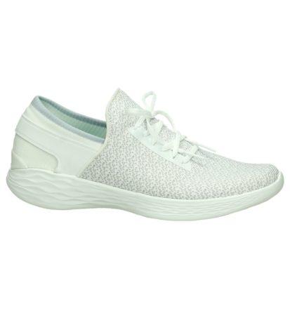 Witte Skechers Memory Foam Sneakers