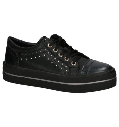 Zwarte Sneakers met Dikke Zolen River Woods