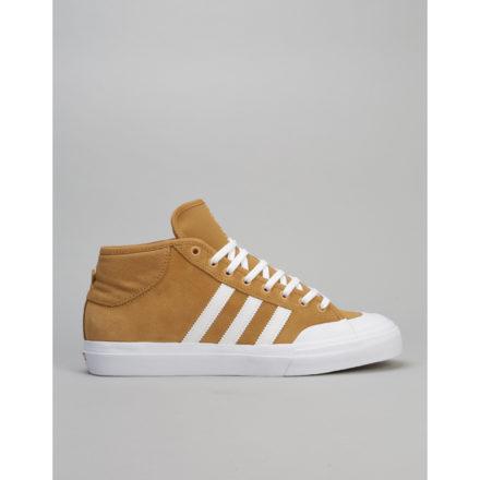 Adidas Matchcourt Mid ADV Skate Shoe - Mesa/White/White (UK 7)