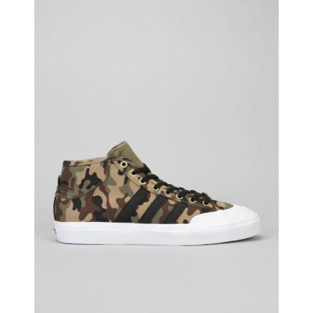 Adidas Matchcourt Mid ADV Skate Shoes - Tent Green/Core Black/White (UK 11)