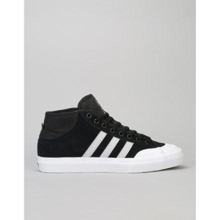 Adidas Matchcourt Mid ADV Skate Shoes - Black/Light Solid Grey/White (UK 7)