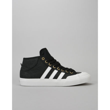 Adidas Matchcourt Mid Skate Shoes - Core Black/Crystal White/Gold Met. (UK 6)