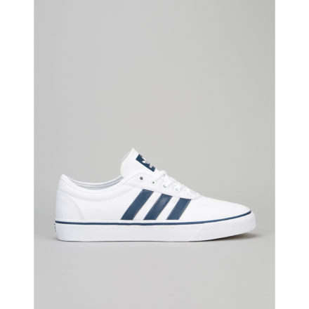 Adidas Adi-Ease Skate Shoes - White/Mystery Blue/Gum (UK 6)