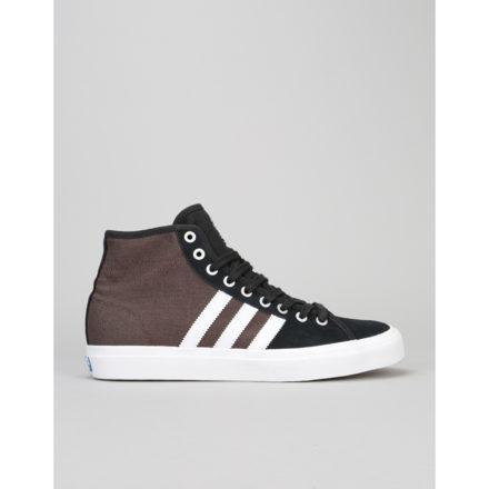 Adidas Matchcourt High RX Skate Shoes - Core Black/White/Brown (UK 6)