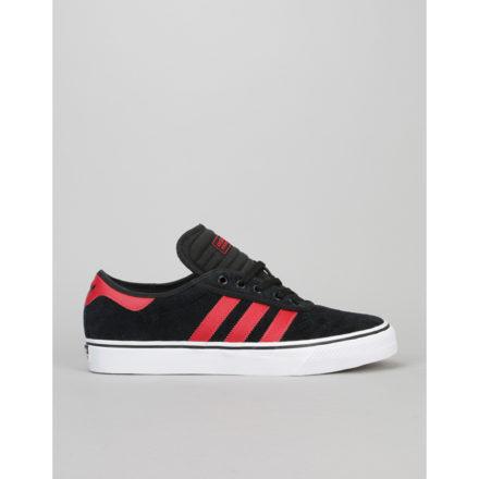 Adidas Adi-Ease Premiere ADV Skate Shoes - Black/Scarlet/White (UK 7)