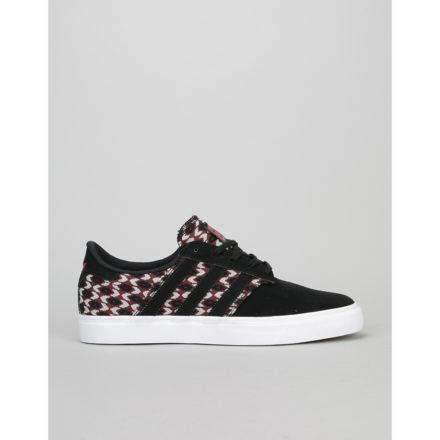 Adidas Seeley Premier Skate Shoes - Core Black/Craft Chilli/White (UK 11)