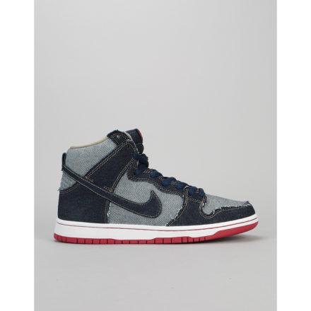Nike SB Dunk High TRD QS Reese Forbes Blue Denim Skate Shoes (UK 7)