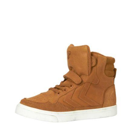 Hummel Stadil leren sneakers kids (bruin)