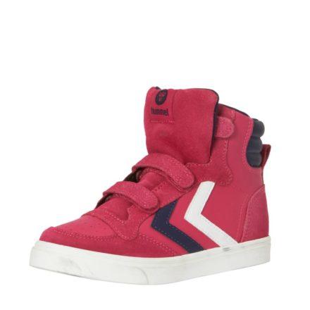 Hummel Stadil leren sneakers meisjes (roze)